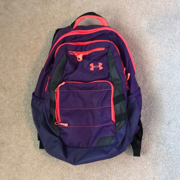 UNDER ARMOUR Purple   neon pink backpack. M 5ab187c5fcdc31ec6f549353 c392990407d41